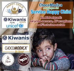 Dal Chair Distrettuale Happy Child, G.Bellina – CHOCOMODICA a sostegno di HAPPY CHILD