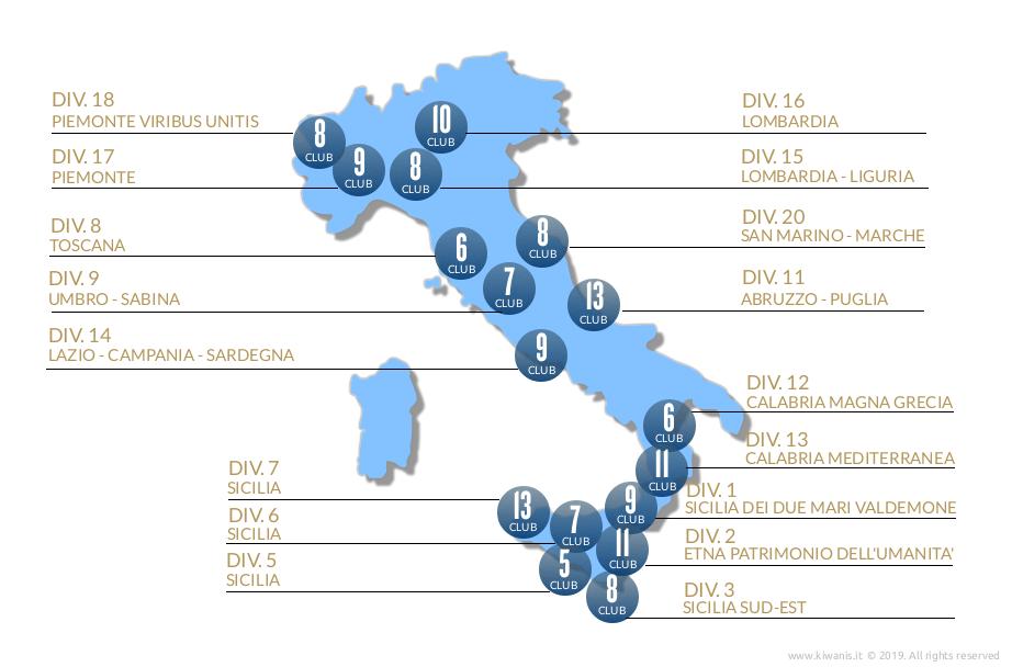 Divisioni Kiwanis Distretto Italia-San Marino