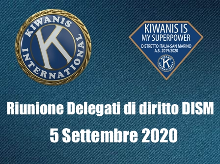 RIUNIONE DELEGATI DI DIRITTO DISM A.S. 2019-2020 - 5 SETTEMBRE 2020